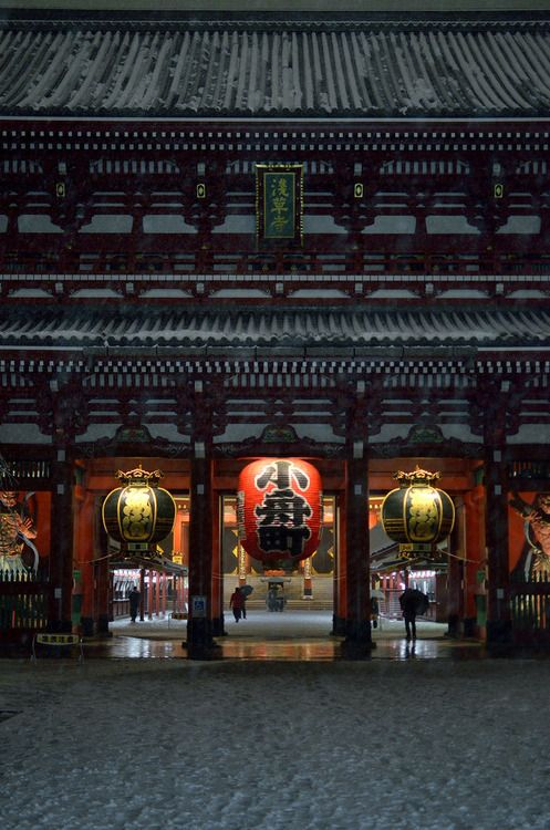 Senso-ji temple, Tokyo, Japan.  Photography by da_yama on Flickr