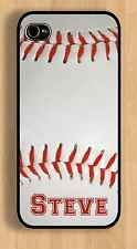 PERSONALIZED IPHONE 4 5s 6 CUSTOM BASEBALL CASE GIFT ADD ANY NAME