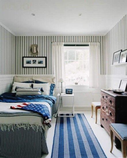 Love The Stripes Guest Bedroom Design Bedroom Design Small Room Design
