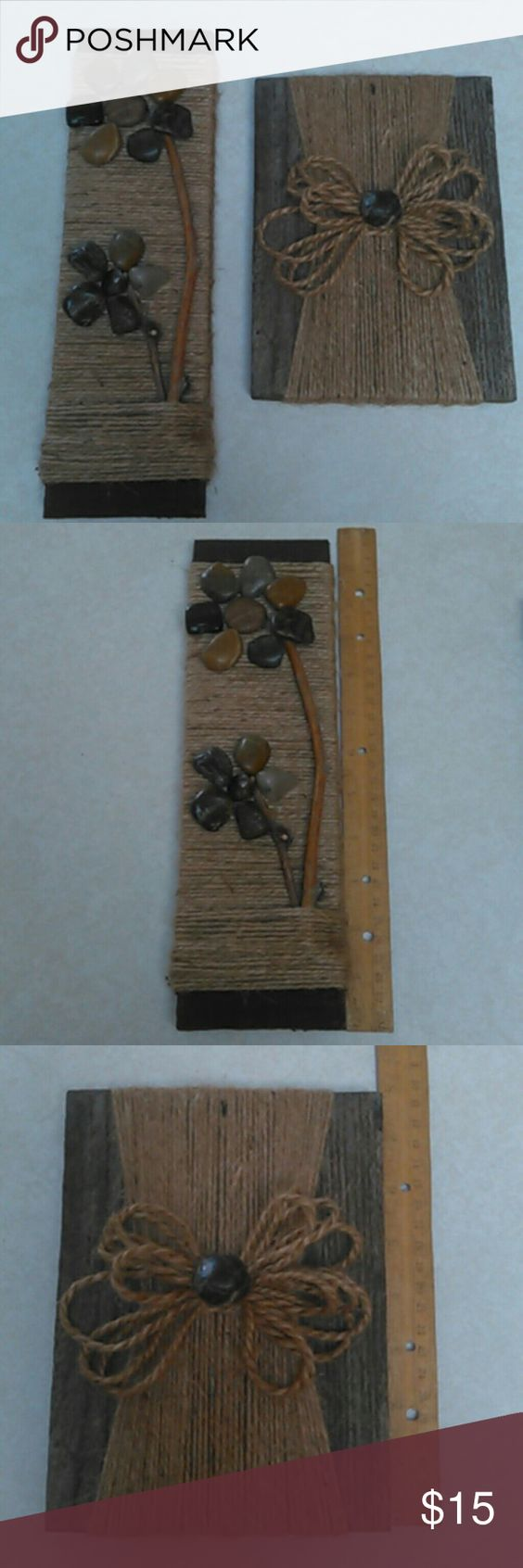 Wall decor Lot of 2 Handmade wall decor- rough cut boards ** I am not a professional - just have fun making things** Other