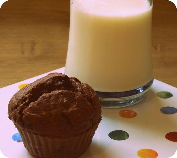 Muffins de chocolate y plátano | Xabi Likes Chocolate