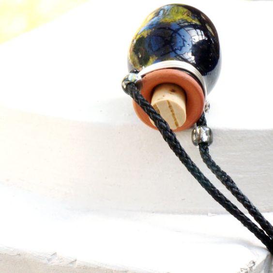 DIFFUSER NECKLACE, diffuser jewelry, diffuser pendant, essential oil diffuser necklace, diffuser locket, Wearable Clay, dark pendant