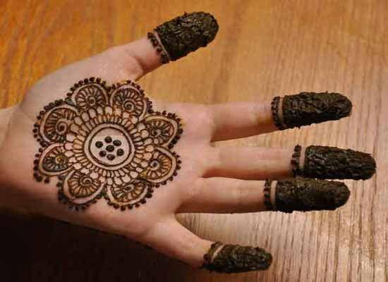 Simple Gol Tikka Mehndi Designs For Hands In 2019 Mehndi