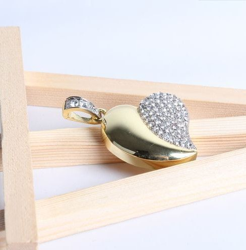 diamond heart shape usb