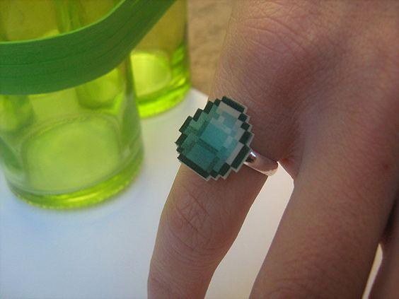 Minecraft 'Diamond Ring'.