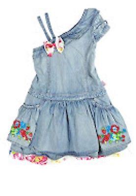 Pampolina Mädchen Kleid Jeanskleid o. Arm