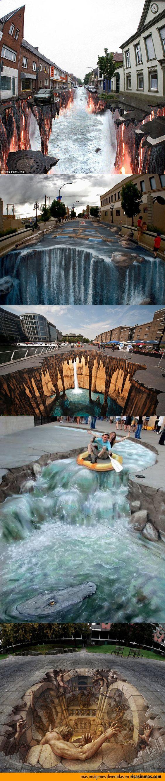 Arte callejero espectacular.