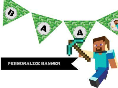 http://www.birthdaypartyideas4u.com/minecraft-birthday-party-ideas/ #minecraft #birthday Minecraft birthday party decoration ideas and supplies