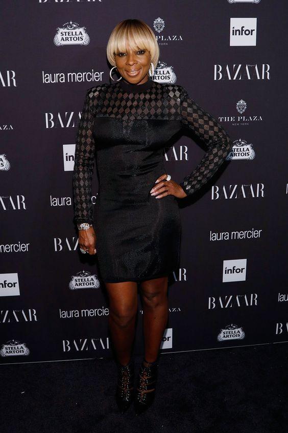 Mary J. Blige à la Fashion Week de New York