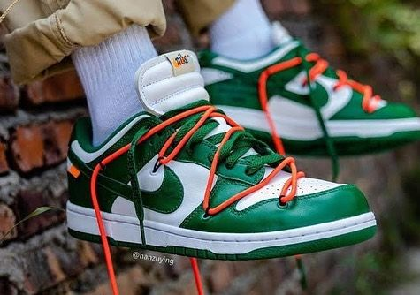 OFF WHITE x Nike Dunk Low OFF WHITE - Pine Green in 2021 | Nike ...