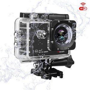 Gizcam GZ10 Caméra Sport 1080P 60fps WIFI Caméra étanche 12MP 170º Grand Angle Écran HD 2.0″ avec 2 batteries et kit d'accessoires: Action…