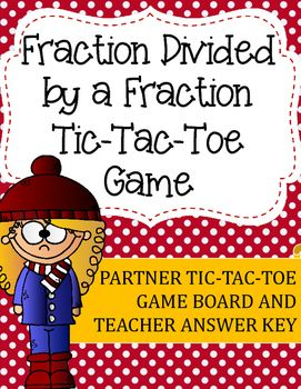 math worksheet : fraction division tic tac toe game fraction divided by a fraction  : Tic Tac Toe Math Worksheets