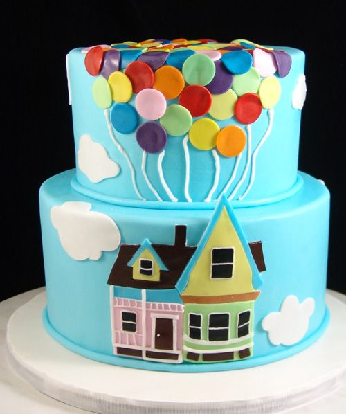 Up Themed Birthday Cake For Kids Fondant Finish With Images