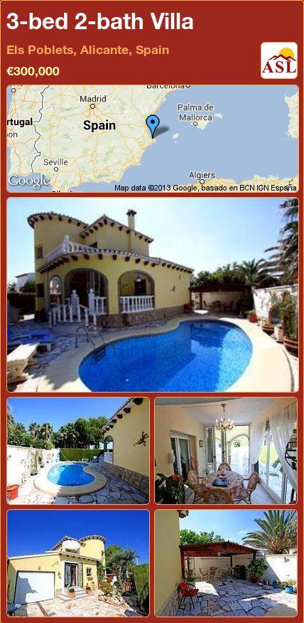 3-bed 2-bath Villa in Els Poblets, Alicante, Spain ►€300,000 #PropertyForSaleInSpain