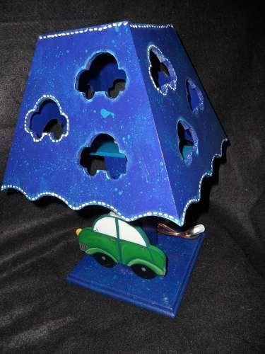 Lámpara Decorativa Infantil Para Mesa De Noche En Mdf
