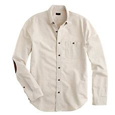 Heathered Chamois Elbow-Patch Shirt | J.Crew Gift Guide
