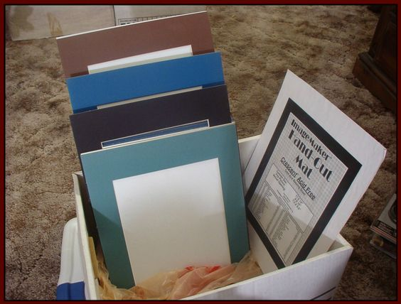 PICTURE FRAME 20 Acid Free 8 X 10 Photo Mats Unused 4 Colors  IM 5574  http://ajunkeeshoppe.blogspot.com/