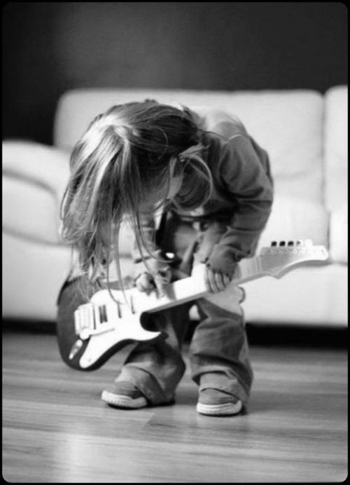 rock star in the making…