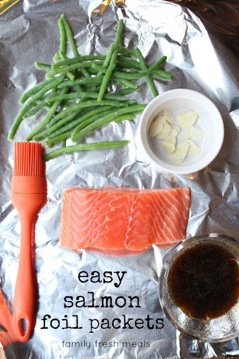 Easy salmon foil packets recipe white rice twists and for Fish foil packets oven