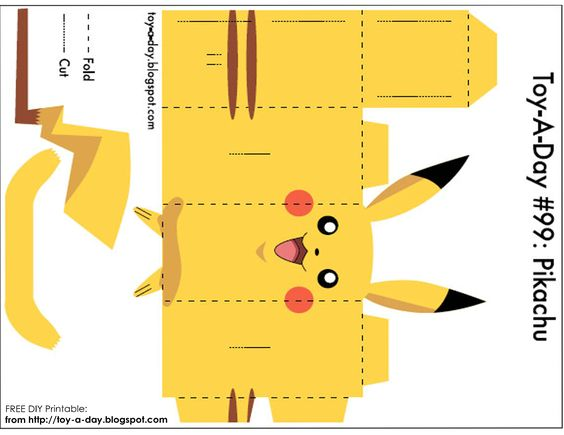 DIY Printable -Paper Box Pocket Monster Pikachu | Party favors, Little ...