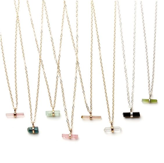 nova tourmaline rod necklace