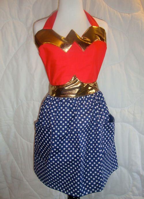 hehehehehe Wonder Woman apron