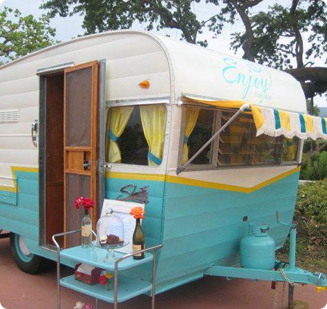cute retro trailer