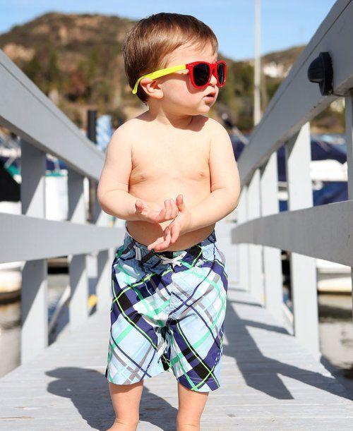 Cool swim trunks for your little guy!