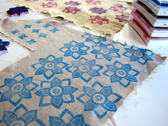 stamping on linen