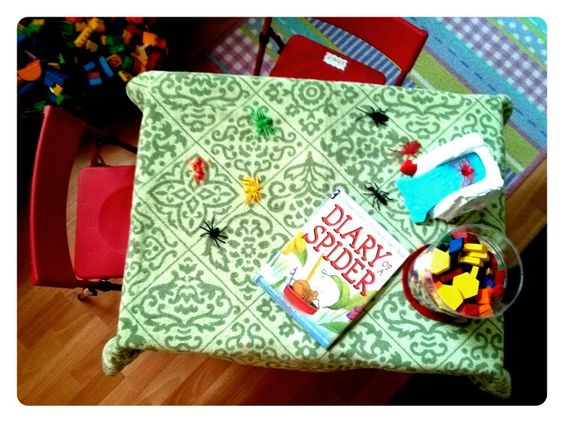 Diary of a Spider by Doreen Cronin. Accompanying CD. Blocks and bugs.