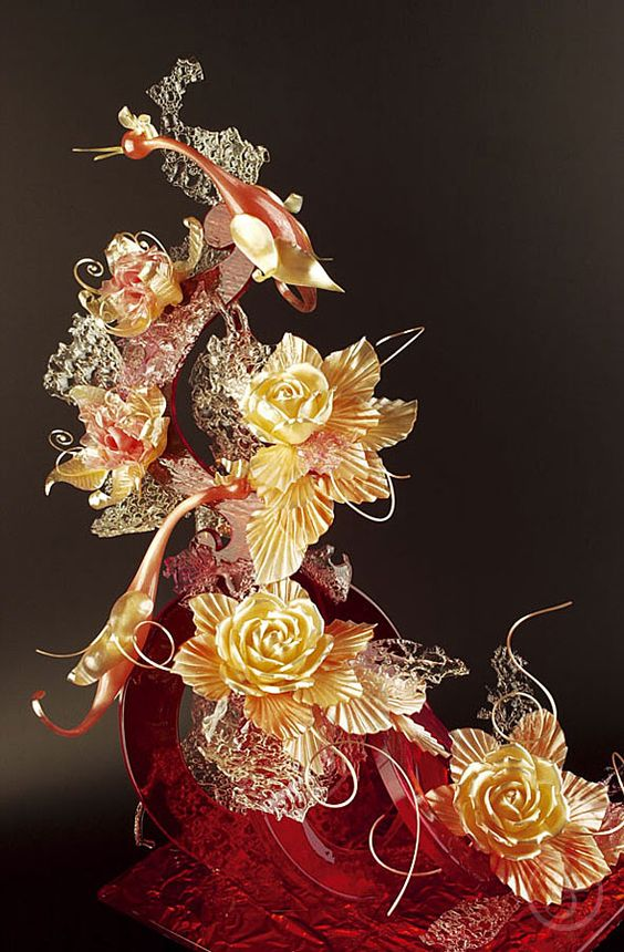 Sugar Showpiece by Chef Stephane Glacier, M.O.F. at The French Pastry School: February 3-6 (1:00 pm - 8:00 pm).  $1,260