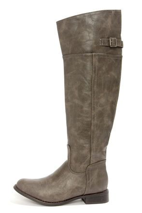 Rider 82 Taupe Vegan Leather Knee High Riding Boots at LuLus.com! $47