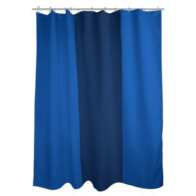 East Urban Home Dallas Single Shower Curtain Color Royal Blue