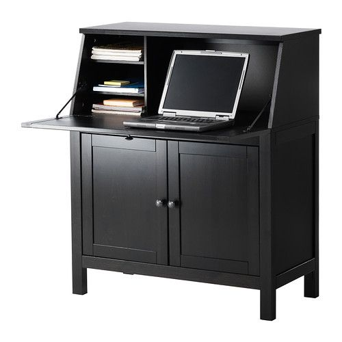 Hemnes secretary and ikea on pinterest for Bureau hemnes