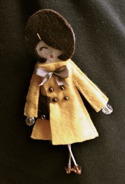 this felt doll is so posh