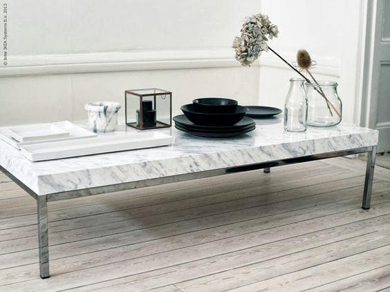 IKEA hack. DIY Marble Coffee Table