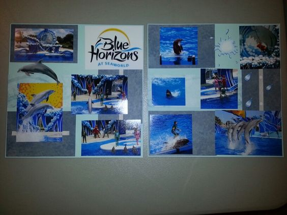 Blue Horizons Show, Sea World Orlando Sep 2011 Two Page Layout. #scrapbooking #scrapbook #seaworld