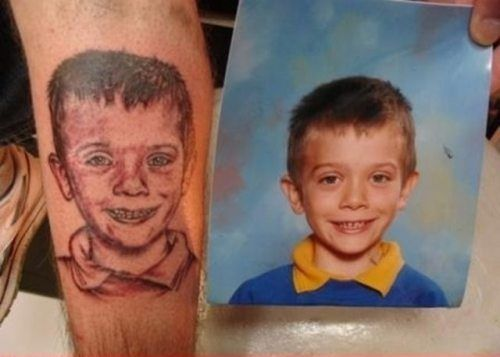 Tattoos that tried and failed to replicate a photograph (29 Photos)