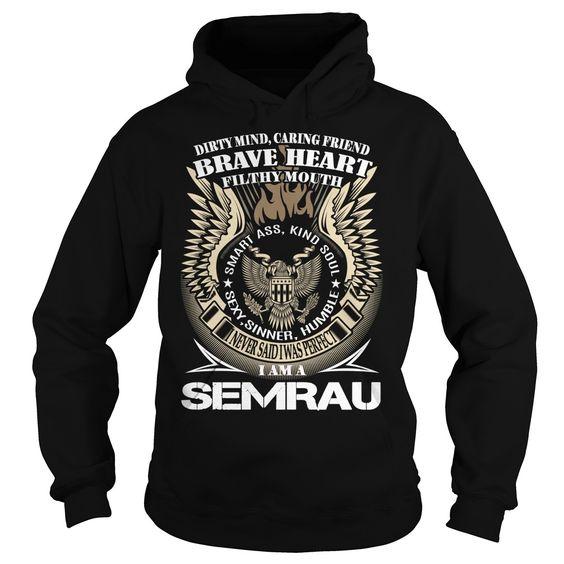 SunFrogShirts cool  SEMRAU Last Name  Surname TShirt v1 - Good Shirt design Check more at http://tshirtnamelove.com/camping/best-tshirt-name-tags-semrau-last-name-surname-tshirt-v1-good-shirt-design.html