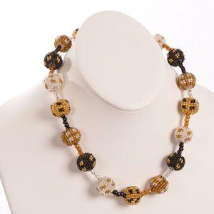 Medium Beaded Ball Necklace - Price: $32.00 #beaded #handmade #fairtrade #southafrica #crafts #jewelry #necklace