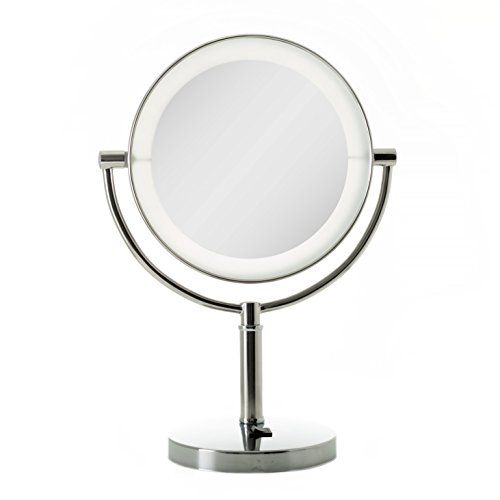 Zadro Led Lighted Vanity Make Up Mirror With 10x Magnification In