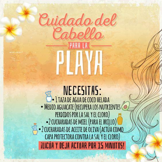 Cuidado del cabello durante la temporada de playa. #HairCare #Hair #Cabello…