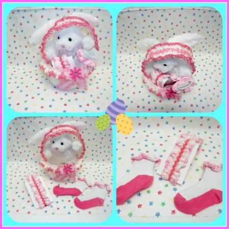 Girls Pink Easter Basket Gift Set by Nancyshandmadecrafts on Etsy