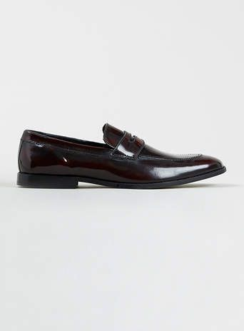 Oxblood Leather Smart Loafers - Sale Shoes - Sale