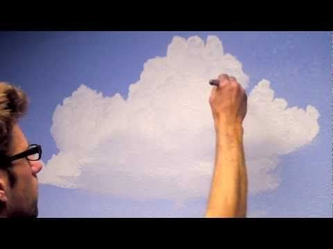 How to paint cloud and murals on pinterest for Ceiling mural painting techniques