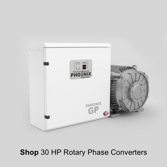 30 Hp Rotary Phase Converter Gp30nl Single Phase To Three Phase Converter In 2020 Converter Rotary Electrical Transformers