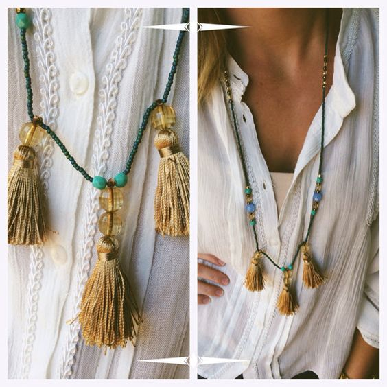 Tassel Beaded Necklace (long) on Etsy, $18.00