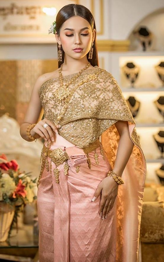 Khmer Wedding Costume Cambodian Wedding Dress Cambodian Dress