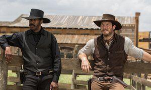 Denzel Washington and Chris Pratt in The Magnificent Seven.