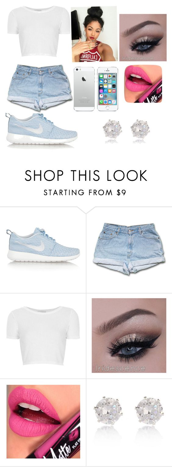 """""""Going to the mall with my friends"""" by offically-kera ❤ liked on Polyvore featuring NIKE, Topshop, Fiebiger and River Island"""